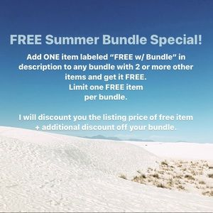 SUMMER BUNDLE SPECIAL! Free items listed now.